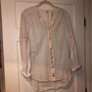 Free people striped button up